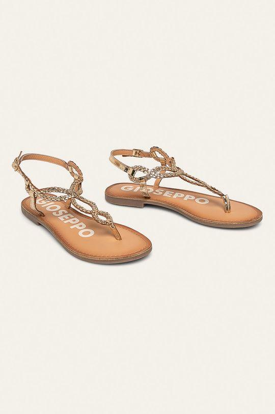 Gioseppo - Kožené sandále zlatá