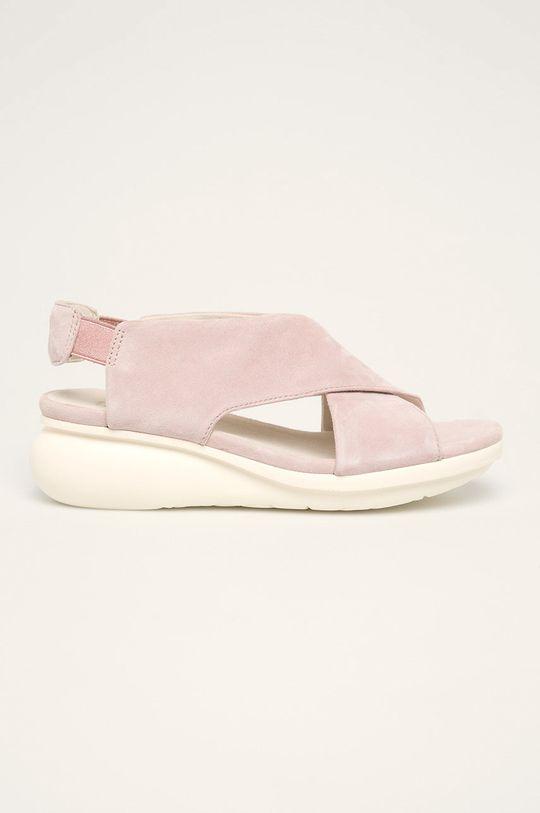 roz pastelat Camper - Sandale de piele Balloon De femei