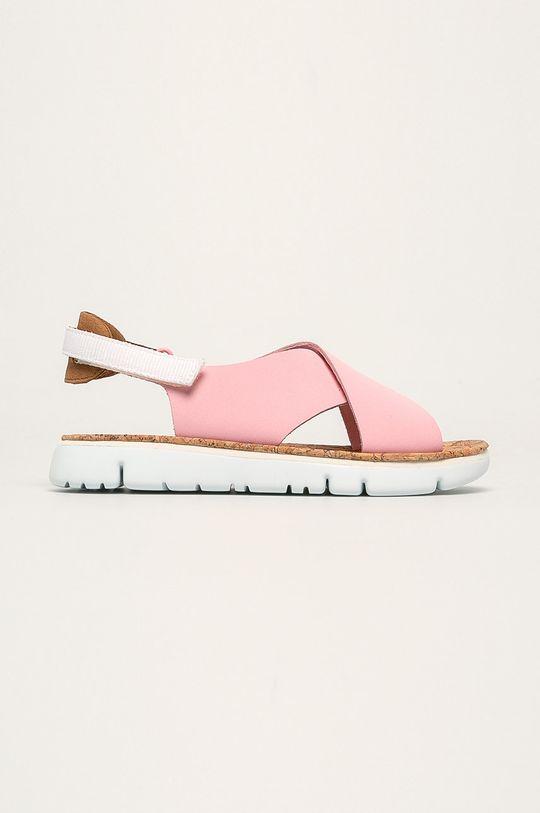 pastelová ružová Camper - Kožené sandále Oruga Dámsky