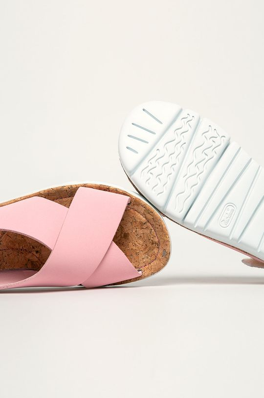 pastelová ružová Camper - Kožené sandále Oruga