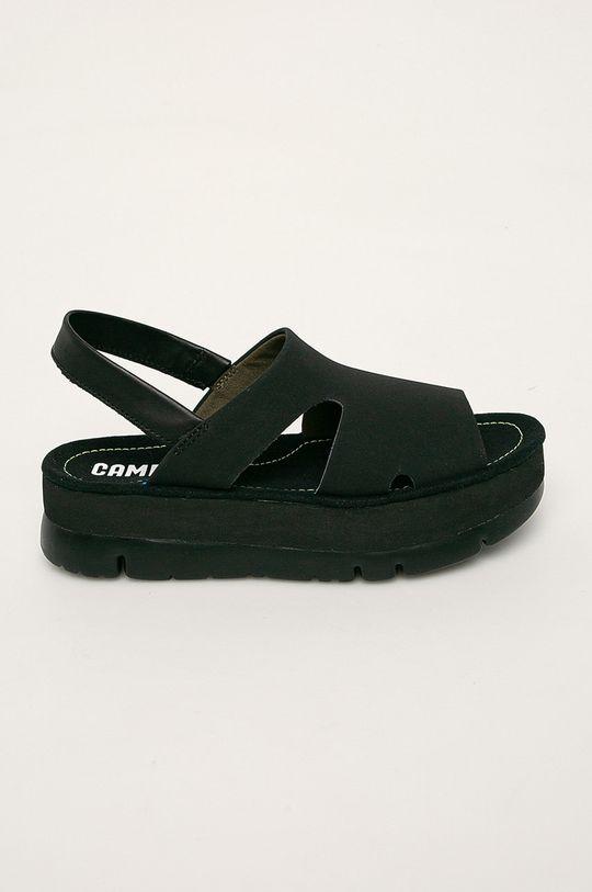 černá Camper - Kožené sandály Oruga Up Dámský