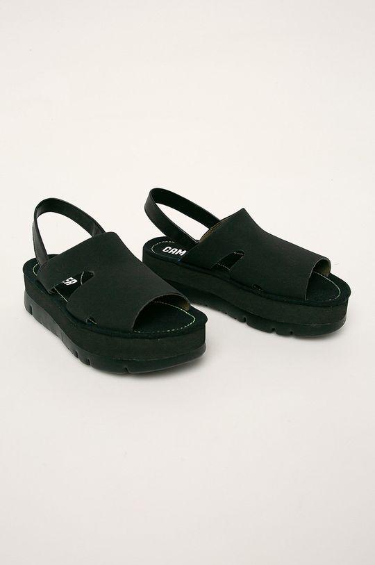Camper - Kožené sandály Oruga Up černá