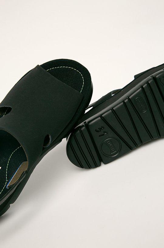 černá Camper - Kožené sandály Oruga Up