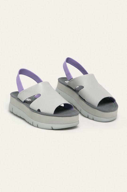 Camper - Sandale de piele Oruga Up gri deschis