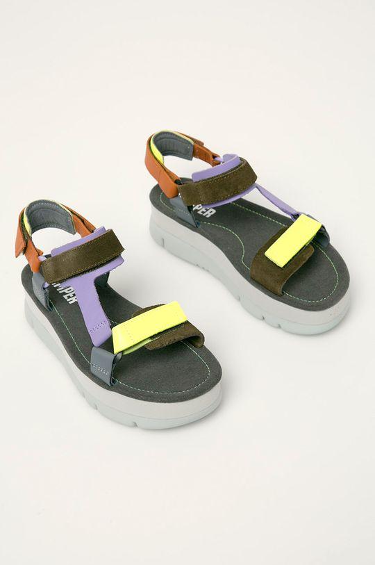 Camper - Sandale de piele Oruga Up gri