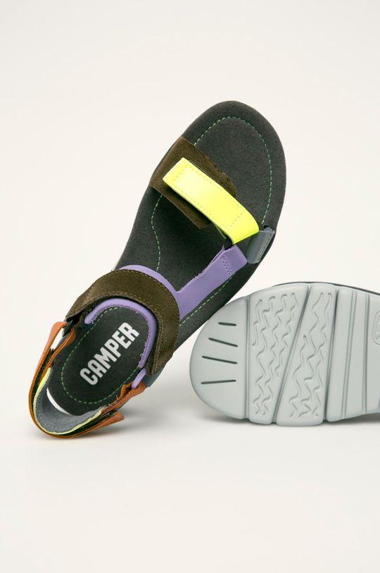 gri Camper - Sandale de piele Oruga Up