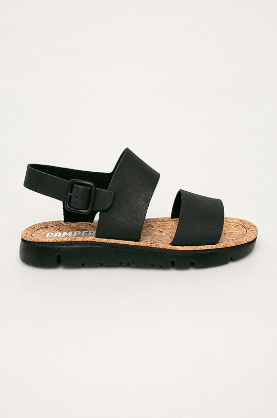 černá Camper - Kožené sandály Oruga Dámský