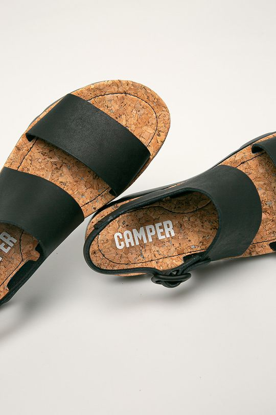 černá Camper - Kožené sandály Oruga
