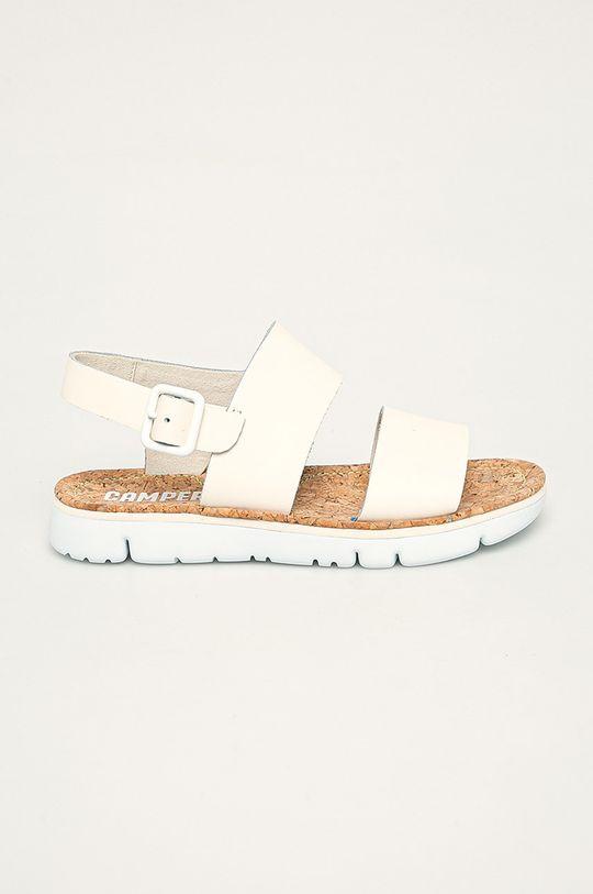smetanová Camper - Kožené sandály Oruga Sandal Dámský