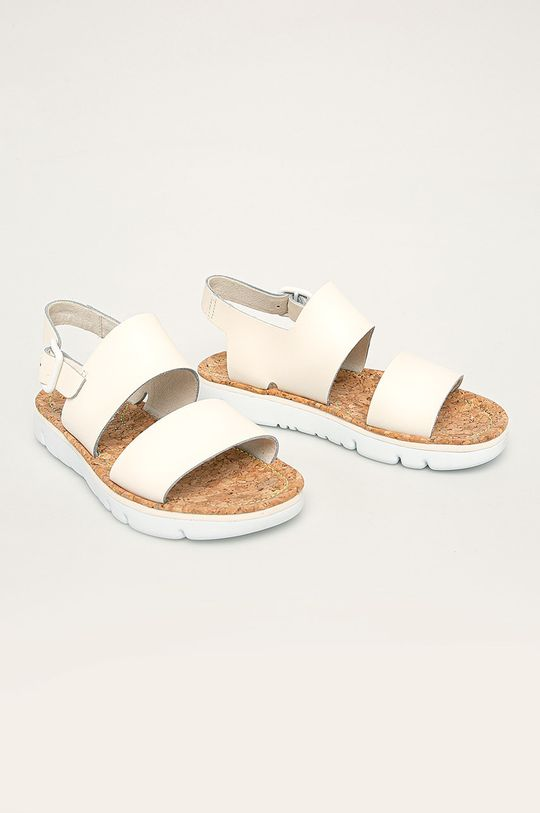 Camper - Kožené sandály Oruga Sandal smetanová
