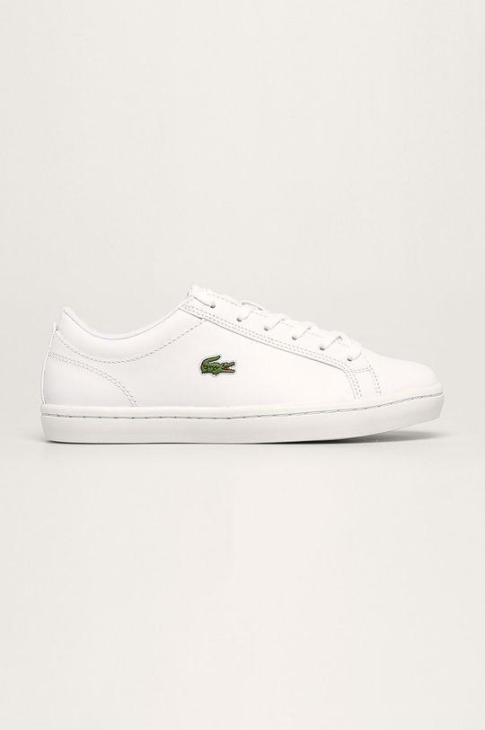 bílá Lacoste - Kožené boty Straight Set Dámský