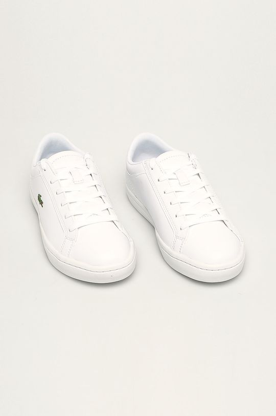 Lacoste - Kožené boty Straight Set bílá
