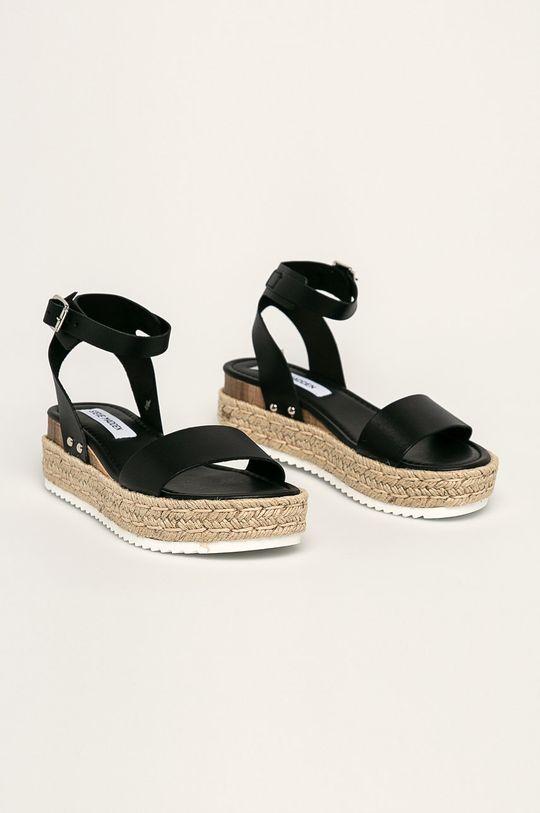 Steve Madden - Kožené sandále Chaser čierna