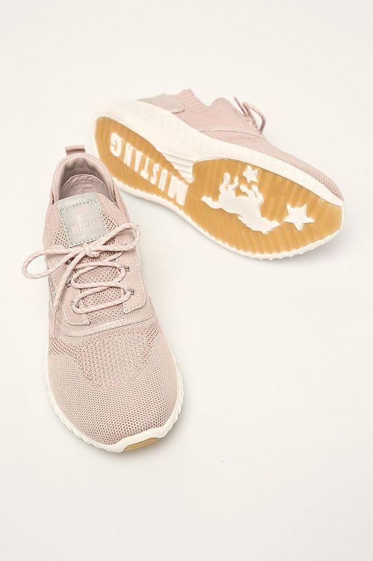pastelová ružová Mustang - Topánky