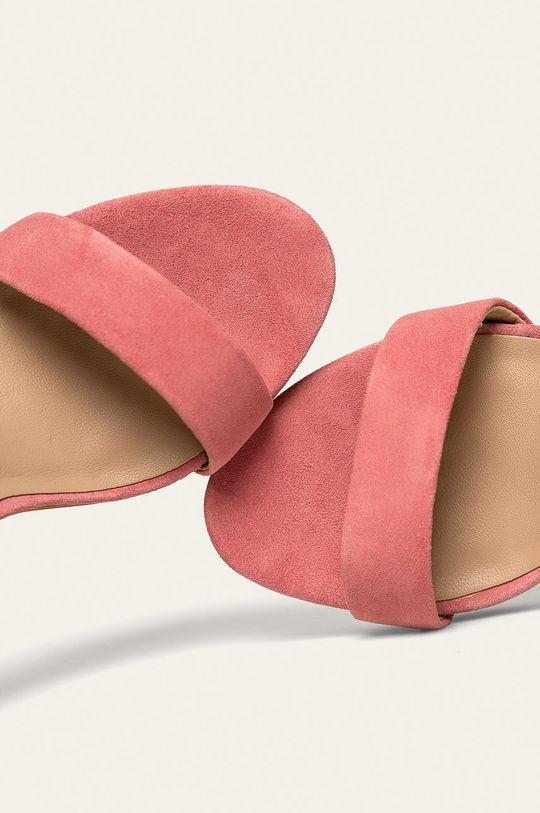 różowy Guess Jeans - Sandały skórzane
