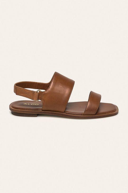 hnedá Aldo - Kožené sandále Sula Dámsky