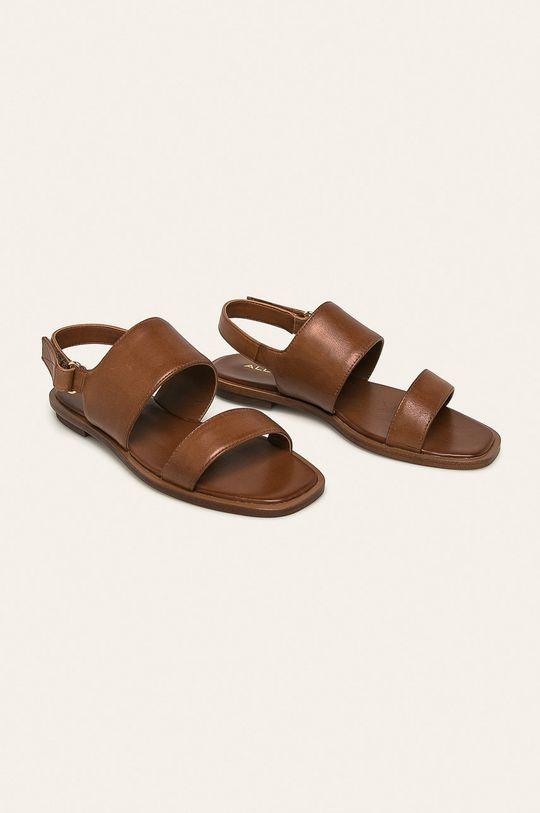 Aldo - Kožené sandále Sula hnedá