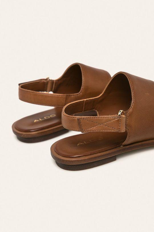 Aldo - Kožené sandále Sula  Zvršok: Prírodná koža Vnútro: Syntetická látka Podrážka: Syntetická látka
