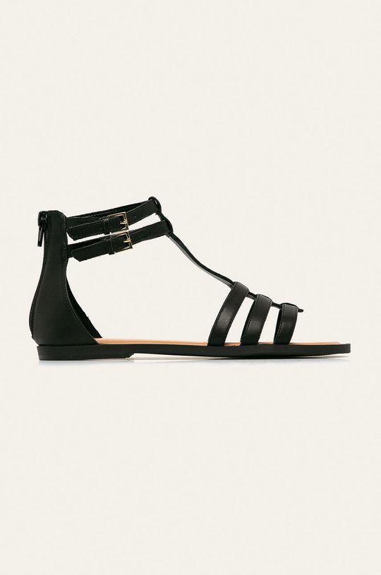 černá Aldo - Kožené sandály Mutisia Dámský