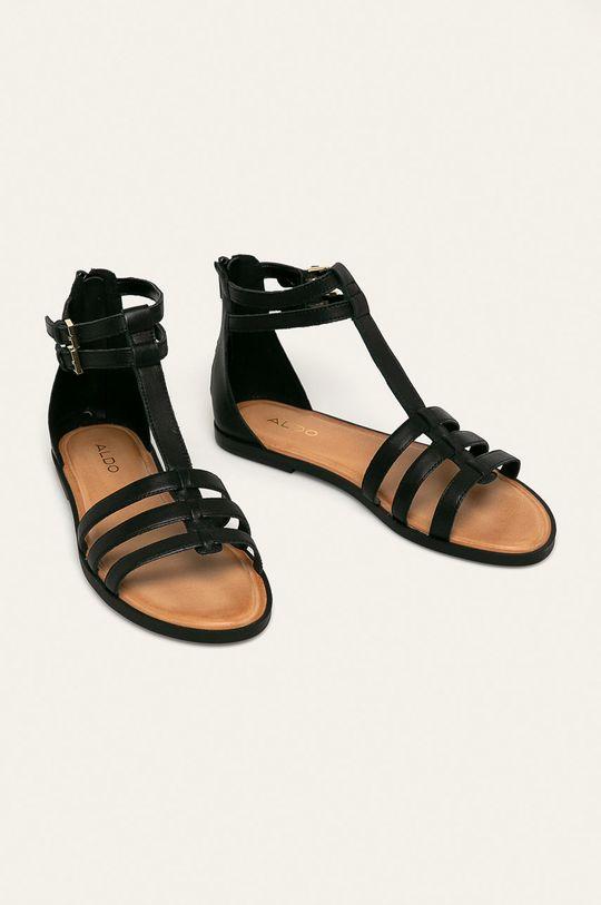 Aldo - Kožené sandály Mutisia černá