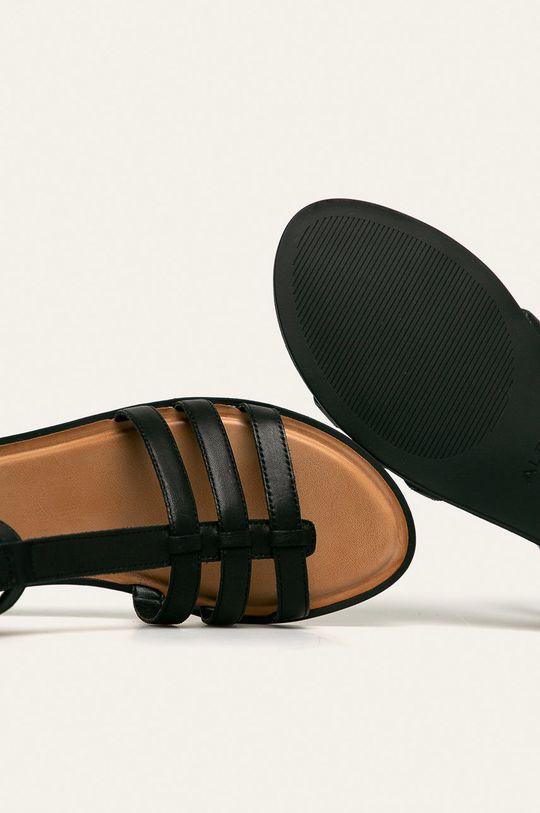 černá Aldo - Kožené sandály Mutisia