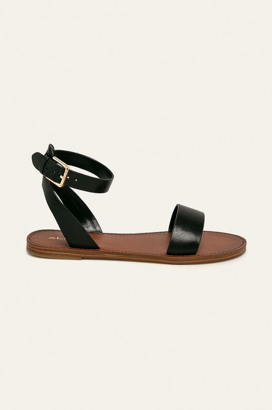 čierna Aldo - Kožené sandále Campodoro Dámsky