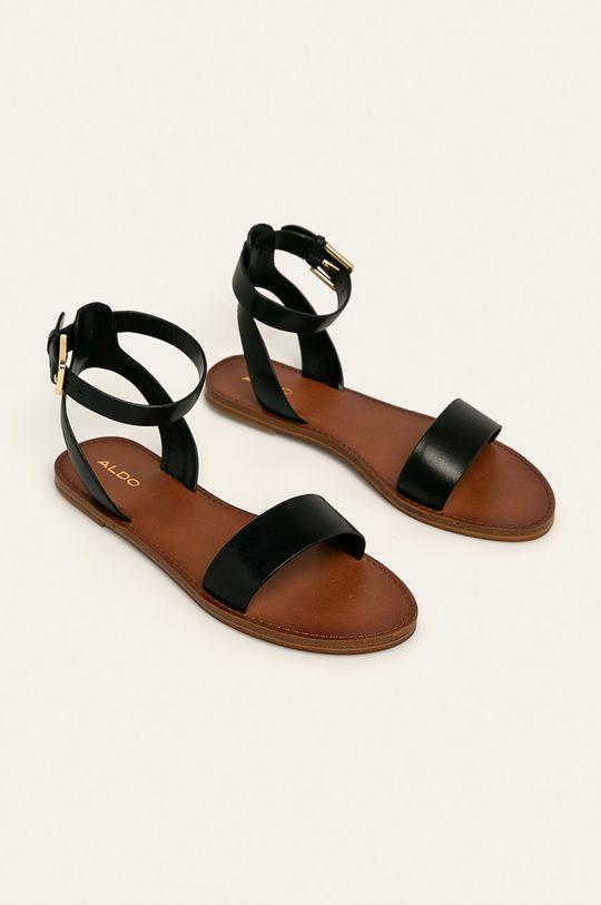 Aldo - Kožené sandále Campodoro čierna