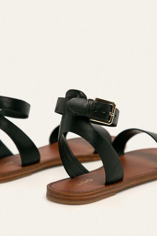 čierna Aldo - Kožené sandále Campodoro