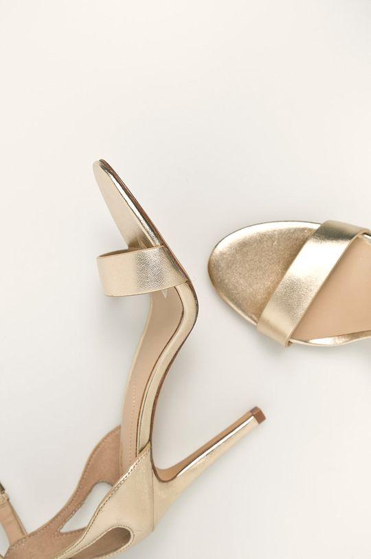 zlatá Aldo - Kožené sandále Violla