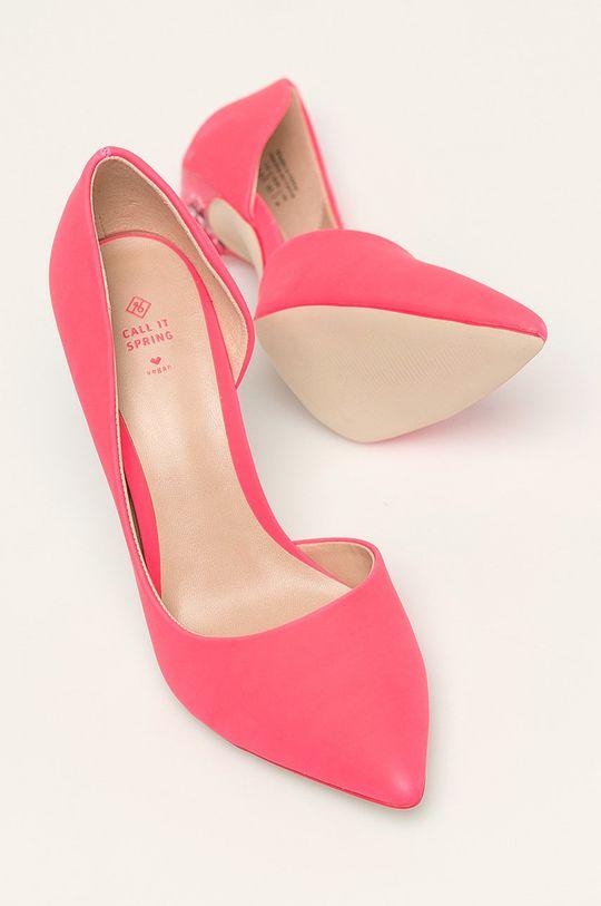 fucsie Call It Spring - Pantofi cu toc Devanna