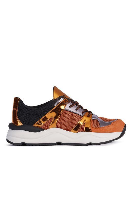 oranžová Geox - Topánky Dámsky