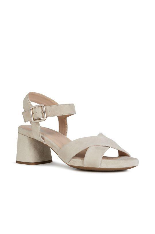 Geox - Sandały skórzane pszeniczny