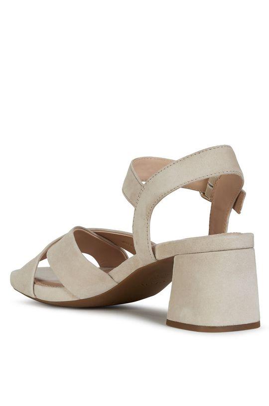 pszeniczny Geox - Sandały skórzane