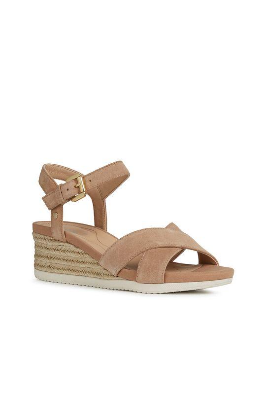 Geox - Sandały skórzane beżowy