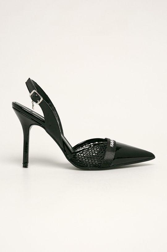 negru Karl Lagerfeld - Stilettos de piele De femei