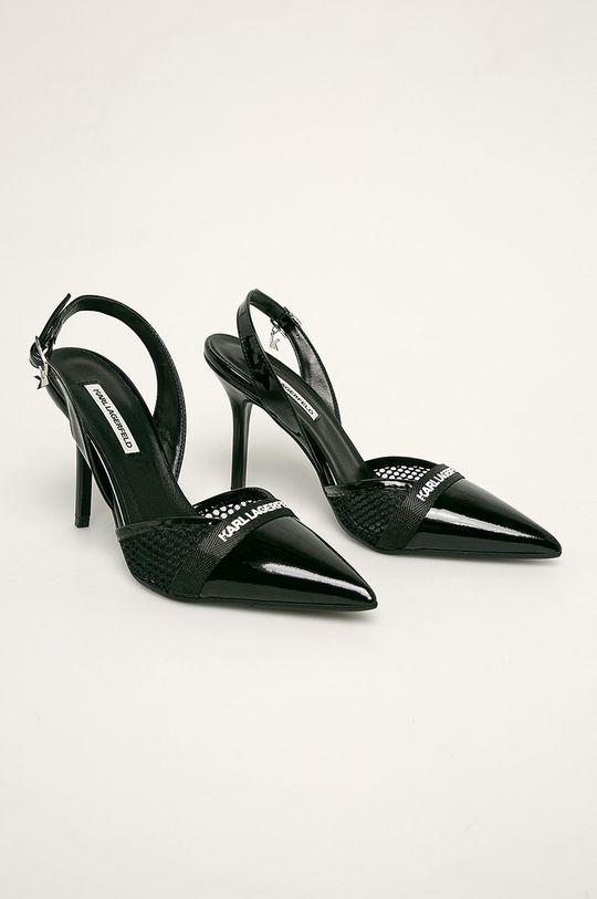 Karl Lagerfeld - Stilettos de piele negru