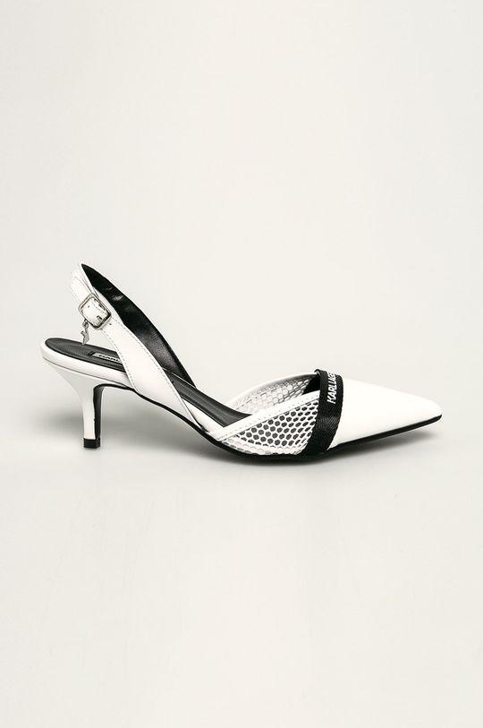 alb Karl Lagerfeld - Stilettos de piele De femei