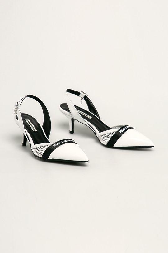 Karl Lagerfeld - Stilettos de piele alb
