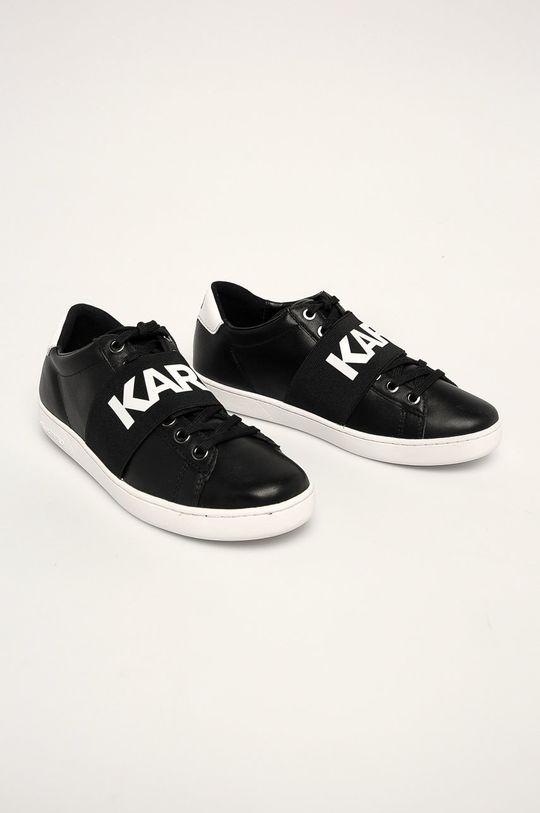 Karl Lagerfeld - Ghete de piele negru
