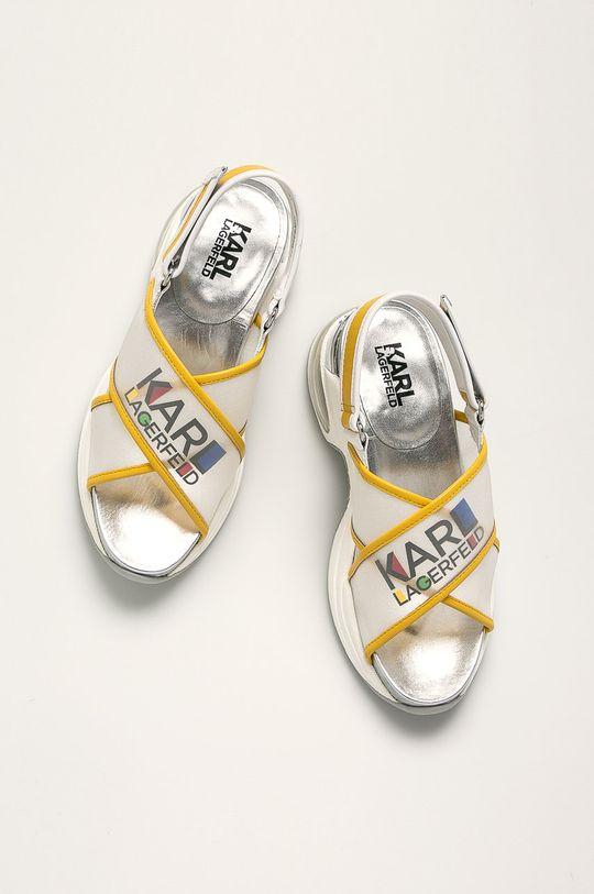 biały Karl Lagerfeld - Sandały