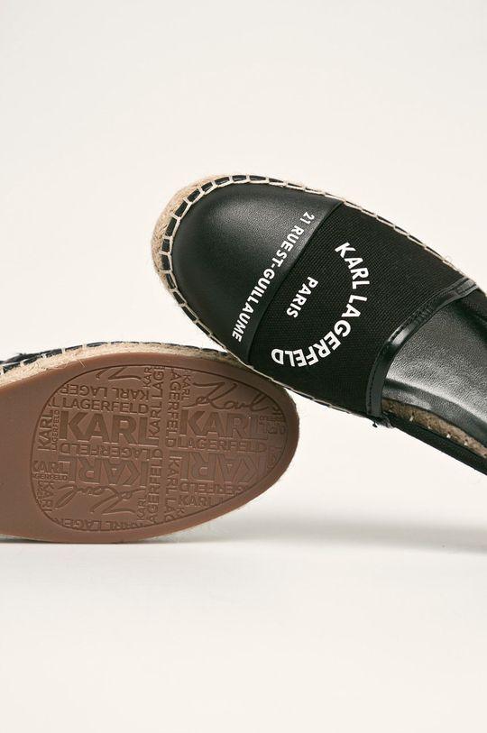 čierna Karl Lagerfeld - Espadrilky