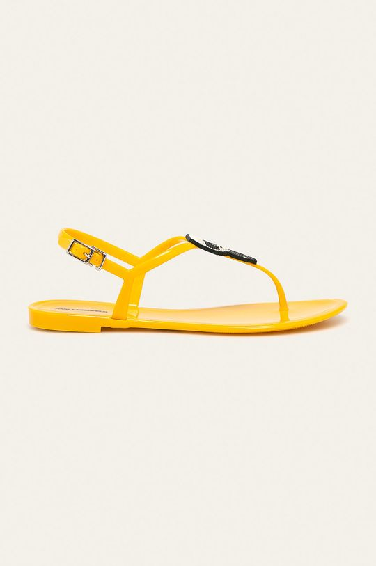 żółty Karl Lagerfeld - Sandały Damski