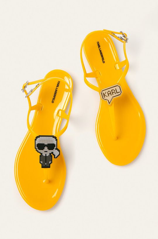 Karl Lagerfeld - Sandały żółty