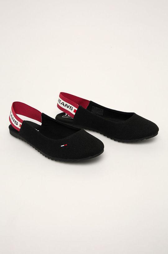 Tommy Jeans - Baleríny čierna