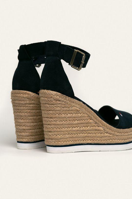 Tommy Jeans - Sandały skórzane Cholewka: Skóra zamszowa, Wnętrze: Materiał syntetyczny, Materiał tekstylny, Podeszwa: Materiał syntetyczny