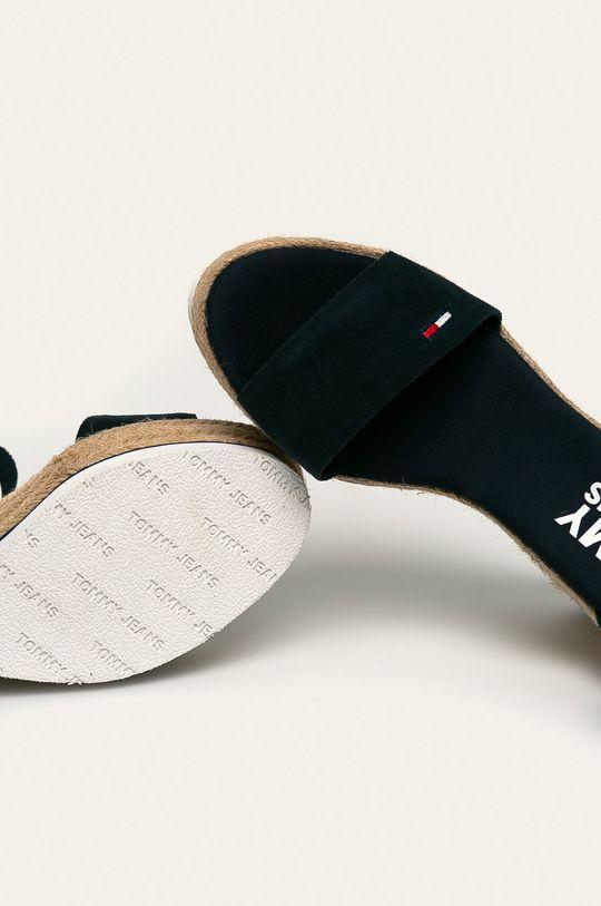 granatowy Tommy Jeans - Sandały skórzane