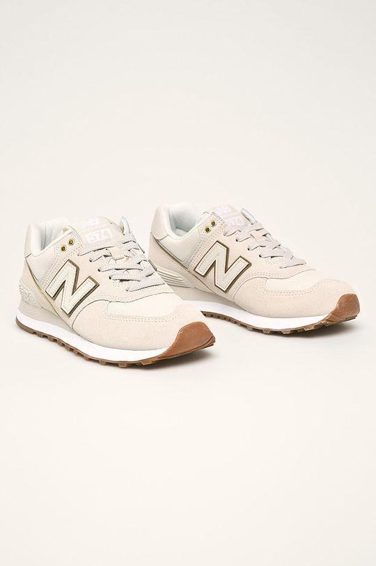 New Balance - Topánky WL574SOA béžová