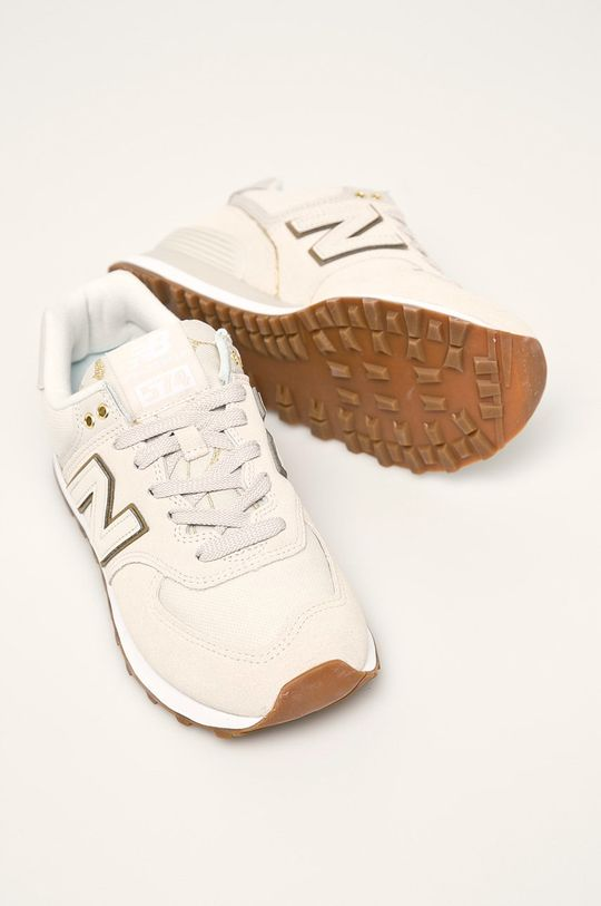 béžová New Balance - Topánky WL574SOA