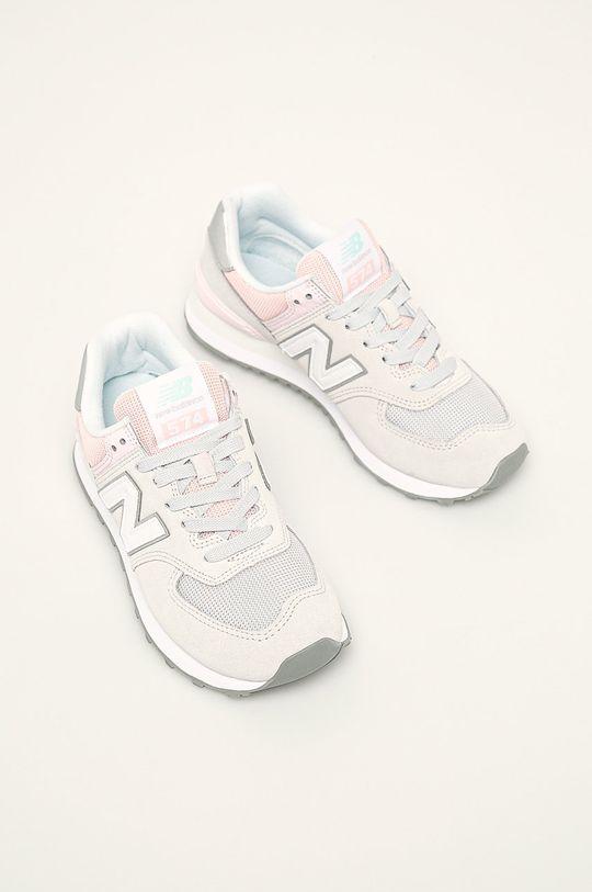 New Balance - Topánky WL574SOT svetlosivá