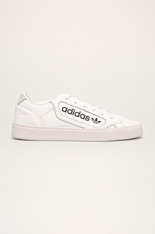 biela adidas Originals - Kožená obuv Sleek W Dámsky